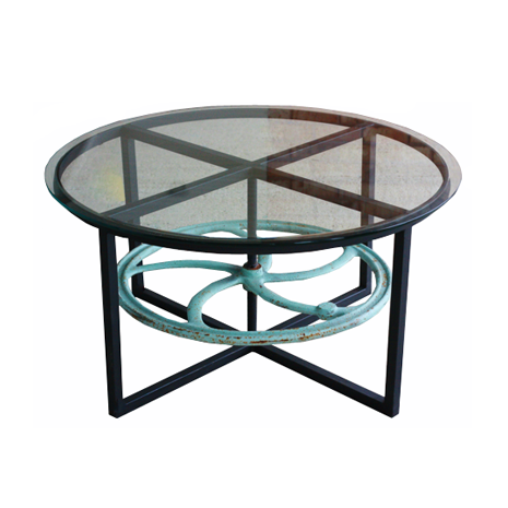 Wheel Cocktail Table