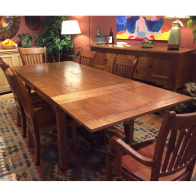 Arts crafts dining room town and countrytown and country for Arts and crafts dining room set